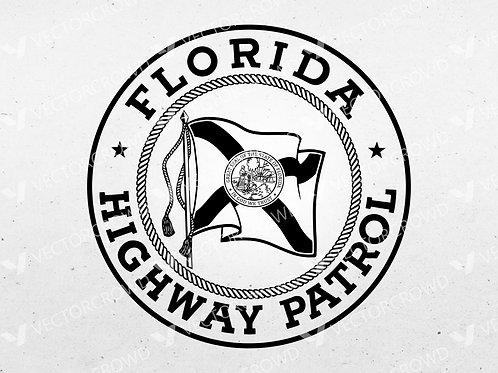 Florida Highway Patrol Seal   Vector Image