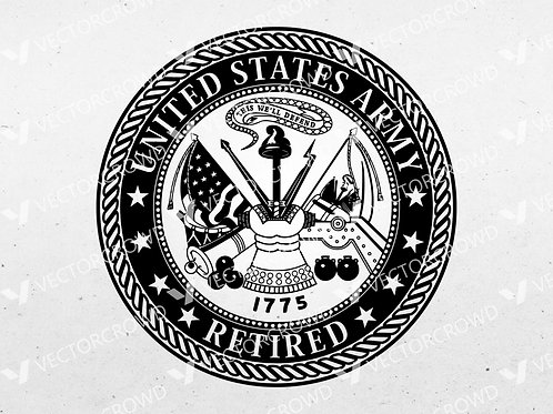 U.S. Army Retired Seal | SVG Cut File