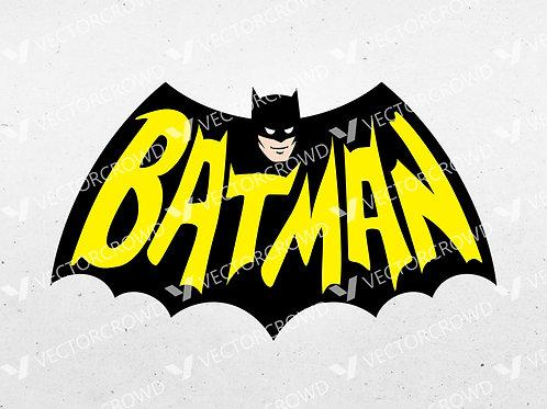 Batman Vintage Logo Gotham Bat Symbol | SVG Cut