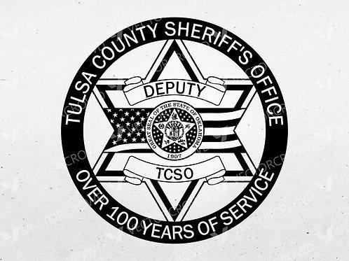 Tulsa County Oklahoma Sheriff Department Badge | VectorCrowd