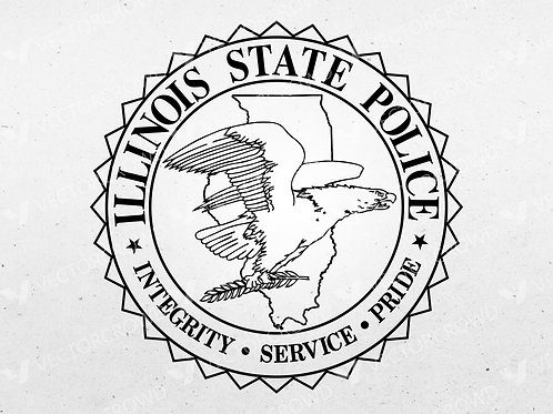 Illinois State Police Department Seal | SVG Cut File