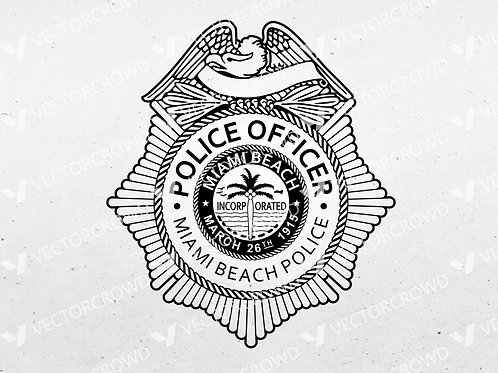 Miami Beach Police Department Badge | SVG Cut