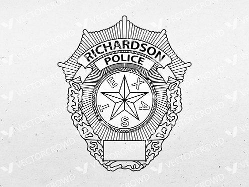 Richardson Texas Police Department Badge | SVG Vector Image