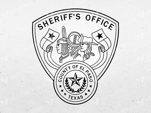 El Paso Texas Sheriff Department Logo | SVG Cut File