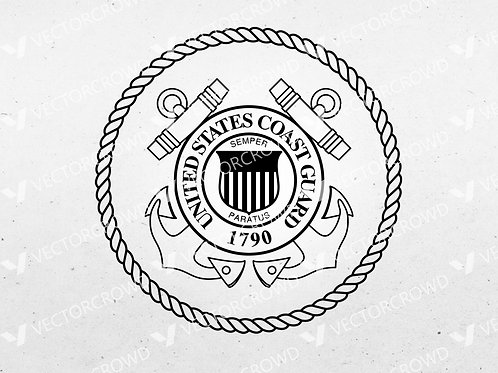 United States Coast Guard Seal Logo | SVG Cut File