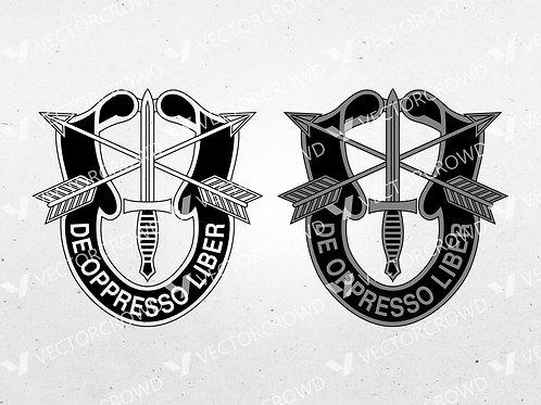 United States Army Special Forces Distinctive Unit Crest | SVG Cut File