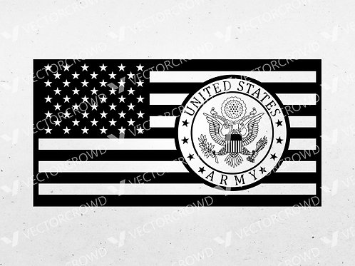 United States Army Seal American Flag    Vector Images