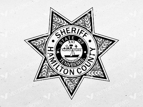 Hamilton County TN Sheriff's Department Badge | Vector Image