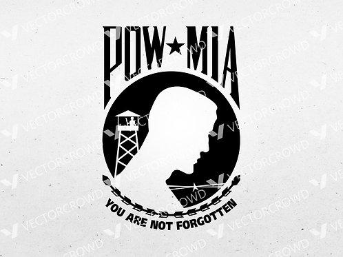 POW MIA Logo, Prisoner of War Missing in Action  | SVG Cut File