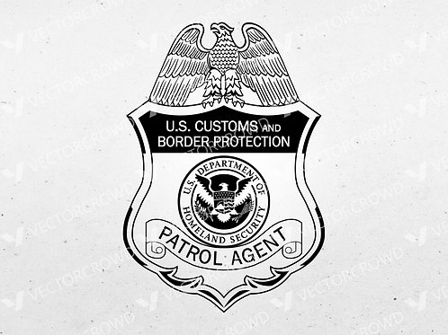 US Customs and Border Protection Patrol Agent Badge | Vector Images | VectorCrowd