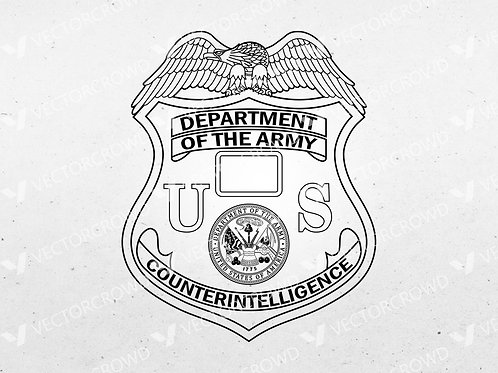 Department of Army Counter Intelligence Badge | Vector Image