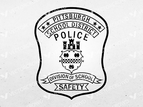 Pittsburgh PA School District Safety Police Officer Patch | Vector Images