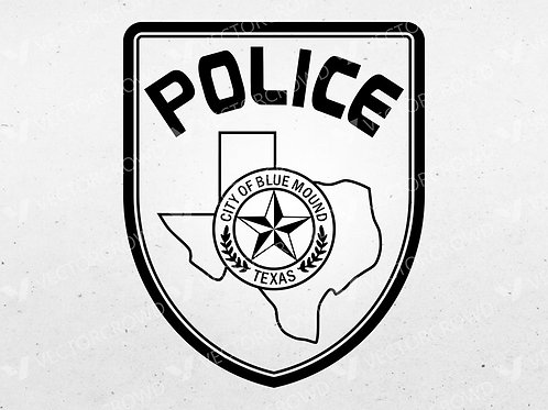 Blue Mound Texas Police Department Patch | Vector Images | VectorCrowd
