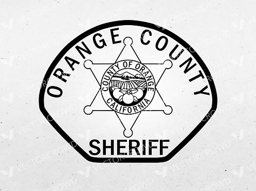 Orange County CA Sheriff's Department Patch | Vector Image