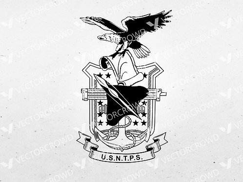 United States Naval Test Pilot School USNTPS Logo | SVG Cut File