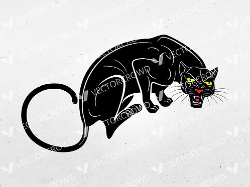 Black Panther SVG | Vector Image | VectorCrowd