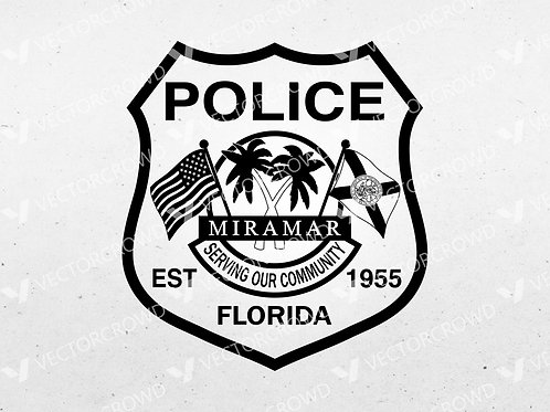 Miramar Florida Police Department Badge | SVG Vector Image