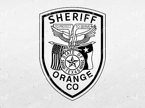 Orange County Texas Sheriff's Department Patch   Vector Image