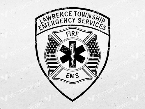 Lawrence Township Michigan Emergency Services Patch | Vector Image