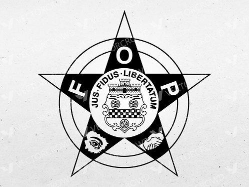 Fraternal Order of Police FOP 5 Point Star Emblem   SVG Cut File