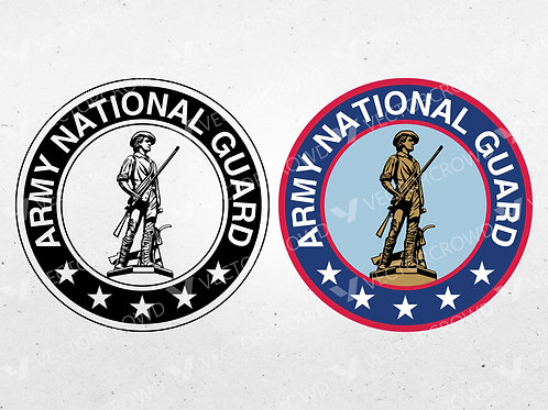 US Army National Guard Seal | Vector Images | VectorCrowd