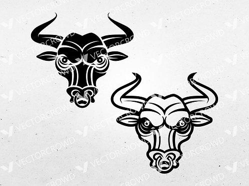 Bull Head Clipart | Vector Image | VectorCrowd