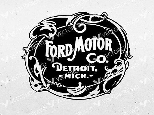 Ford Motor Company Vintage Logo | SVG Cut File