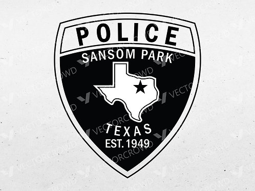 Sansom Park Texas Police Department Patch   Vector Images   VectorCrowd