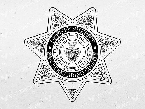 San Bernardino CA Sheriff's Department Badge | Vector Image