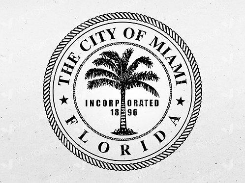 City of Miami Florida Seal | SVG Cut File