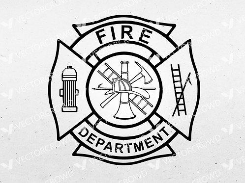Fire Department Maltese Cross | SVG Cut File