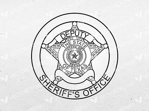 Texas Sheriff's Deputy Badge Blank | SVG Cut File