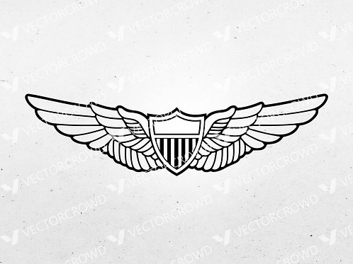 Army Aviator Wings Insignia | SVG Cut File