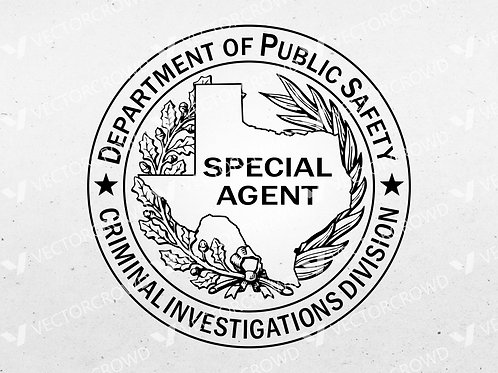 Texas DPS Criminal Investigations Special Agent Badge | Vector Images