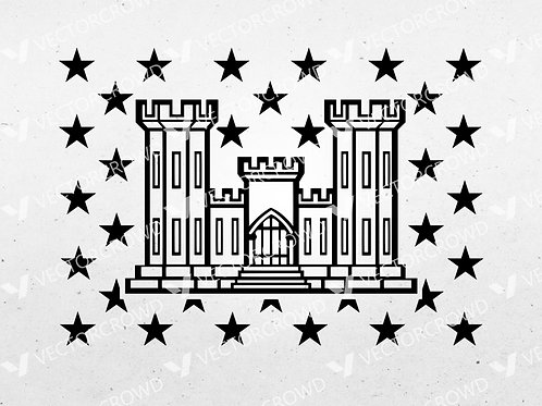 Army Corps of Engineers Castle Union | SVG Cut File