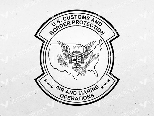US Customs Border Protection Air Marine Operations Badge | SVG Cut File