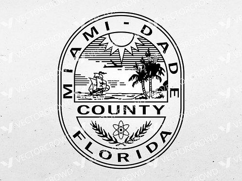 Miami Dade County Seal | Vector Image | VectorCrowd
