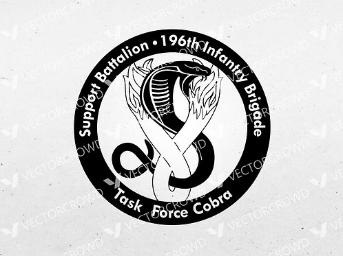 US Army Reserves 196th Infantry Brigade Support Battalion | SVG Cut File
