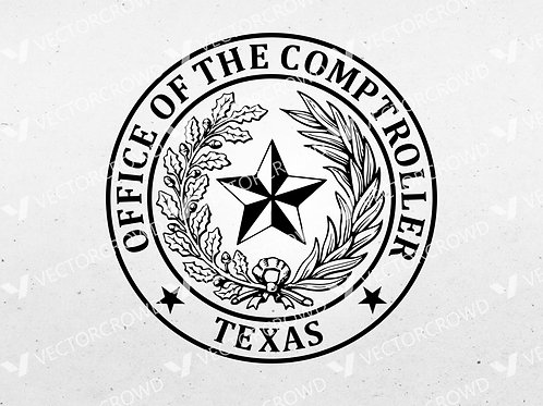 Texas Office of the Comptroller Seal | SVG Cut File