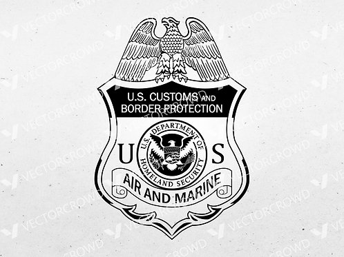 CBP DHS Air and Marine Badge | VectorCrowd