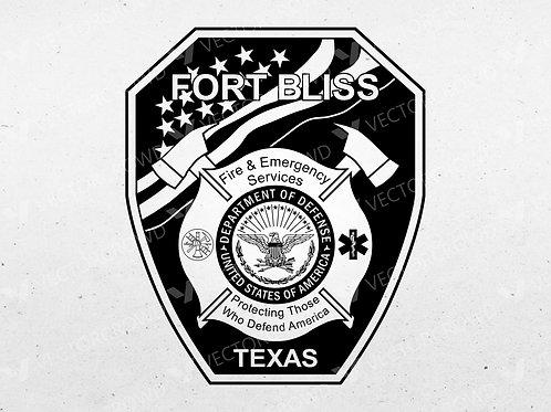 Fort Bliss Texas Fire Department Emblem | Vector Image | VectorCrowd
