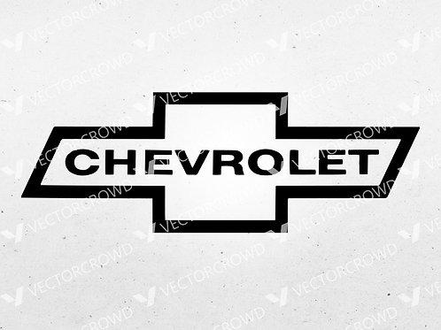 Chevrolet Classic Bowtie Logo | SVG Cut File