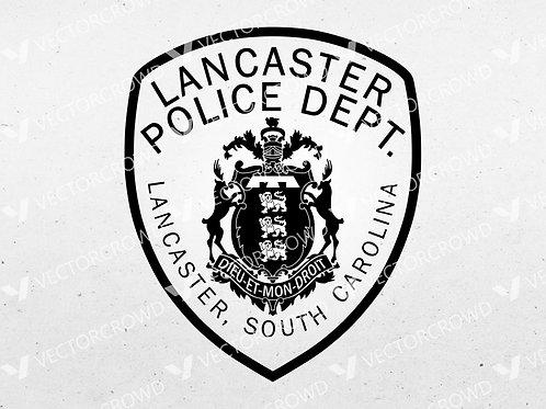 Lancaster SC Police Department Patch | VectorCrowd