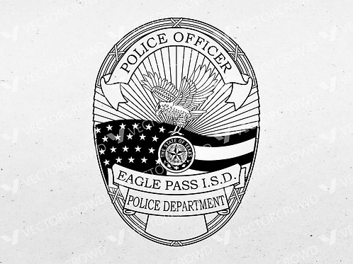 Eagle Pass ISD Texas Police Officer Badge | VectorCrowd