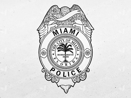 City of Miami Police Department Badge | SVG Cut File