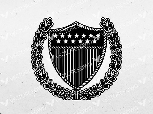 Coast Guard Officer In Charge Ashore Insignia | SVG Cut File