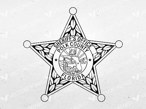 Polk County Florida Sheriff Department Badge | VectorCrowd