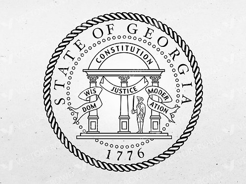 Georgia GA State Seal Logo | SVG Cut File