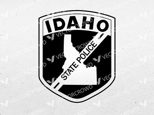 Idaho State Police Department Trooper Seal | SVG Cut File