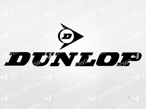 Dunlop Tires Logo  | SVG Cut File